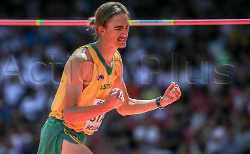 28.08.2015. Birds Nest Stadium, Beijing, China.  Australia's Brandon Starc competes at the High Jump Qualification at the 15th International Association of Athletics Federations (IAAF) Athletics World Championships in Beijing, China, 28 August 2015.