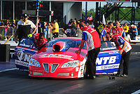 Apr. 27, 2012; Baytown, TX, USA: NHRA crew members for pro stock driver Shane Gray during qualifying for the Spring Nationals at Royal Purple Raceway. Mandatory Credit: Mark J. Rebilas-