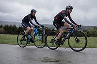 Hannah Barnes (GBR/Canyon Sram Racing) and Aude Biannic (FRA/Movistar) up the Cote de Brume. <br /> <br /> 3th Liège-Bastogne-Liège-Femmes 2019 (1.WWT)<br /> 1 Day Race: Bastogne – Liège 138,5km<br /> <br /> ©kramon
