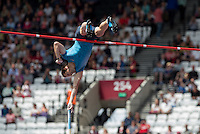 Renaud LAVILLENIE of France in action in the Pole Vault during the Sainsburys Anniversary Games at the Olympic Park, London, England on 25 July 2015. Photo by Andy Rowland.