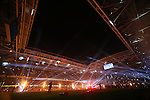 A light show and fireworks light up the Millennium Stadium.<br /> 2015 RBS 6 Nations<br /> Wales v England<br /> Millennium Stadium <br /> 06.02.15<br /> ©Steve Pope -SPORTINGWALES