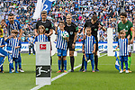10.09.2017, Olympiastadion, Berlin, GER, 1.FBL, Hertha BSC vs SV Werder Bremen<br /> <br /> im Bild<br /> Bibiana Steinhaus (Schiedsrichterin / referee) mit Ballkind, <br /> <br /> Foto &copy; nordphoto / Ewert