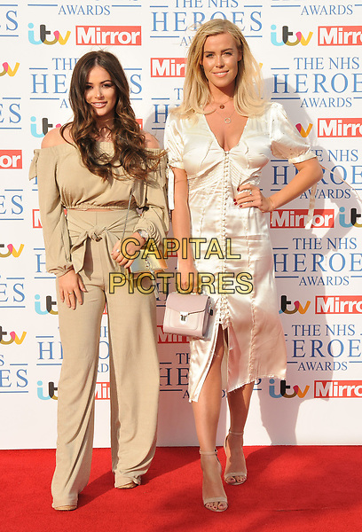 Courtney Green and Chloe Meadows at the NHS Heroes Awards 2018, London Hilton on Park Lane Hotel, Park Lane, London, England, UK, on Monday 14 May 2018.<br /> CAP/CAN<br /> &copy;CAN/Capital Pictures