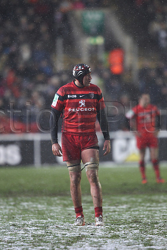 20.01.2013 Leicester, England.  Toulouse lock Patricio Albacete in action during the Heineken Cup game between Leicester Tigers and Toulouse from Welford Road.