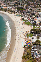 Laguna Beach Coastline Aerial Stock Photo