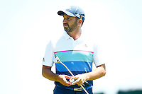 Sergio Garcia looks on after putting on the 16th green during the 2016 U.S. Open in Oakmont, Pennsylvania on June 17, 2016. (Photo by Jared Wickerham / DKPS)
