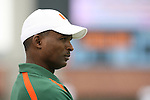 06 October 2007: Miami head coach Randy Shannon. The University of North Carolina Tar Heels defeated the University of Miami Hurricanes 33-27 at Kenan Stadium in Chapel Hill, North Carolina in an Atlantic Coast Conference NCAA College Football Division I game.