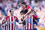 Yannick Ferreira Carrasco (H) celebrates his score with his teammates during the La Liga match between Atletico de Madrid vs Osasuna at the Estadio Vicente Calderon on 15 April 2017 in Madrid, Spain. Photo by Diego Gonzalez Souto / Power Sport Images