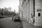 Havana, Cuba: Street scene along the Prado in Old Havana