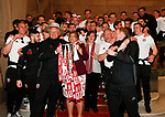 Chris Wilder manager of Sheffield Utd wears the Lord Mayor's hat during the open top bus parade from Bramall Lane Stadium to Sheffield Town Hall, Sheffield. Picture date: May 2nd 2017. Pic credit should read: Simon Bellis/Sportimage