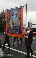 Star of Bethlehem Lodge with Govan District returning from the County Grand Orange Lodge of Glasgow Parade 2012 which took place in Glasgow on 7.7.12..
