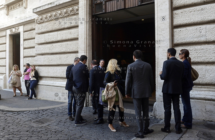 Roma, 30 Settembre 2013<br /> Parlamentari del PDL verso la riunione del gruppo a Montecitorio