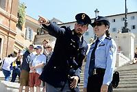Roma, 5 Giugno 2017<br /> Servizi di pattugliamento congiunto con operatori di polizia cinesi e italiani a Roma in Piazza di Spagna