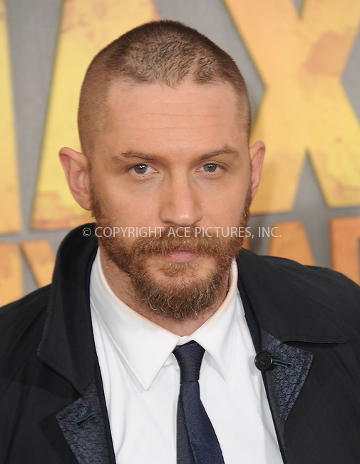 WWW.ACEPIXS.COM<br /> <br /> May 7 2015, LA<br /> <br /> Tom Hardy arriving at the premiere  'Mad Max: Fury Road' at the TCL Chinese Theatre on May 7, 2015 in Hollywood, California. <br /> <br /> By Line: Peter West/ACE Pictures<br /> <br /> <br /> ACE Pictures, Inc.<br /> tel: 646 769 0430<br /> Email: info@acepixs.com<br /> www.acepixs.com