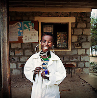 Feleke Shalachewu, 10, wants to be a doctor when he grows up.