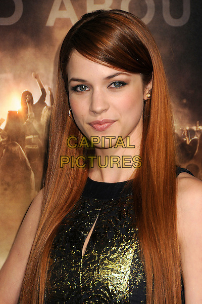 "Alexis Knapp.""Project X"" Los Angeles Premiere held at Grauman's Chinese Theatre, Hollywood, California, USA..February 29th, 2011.February 29th, 2011.headshot portrait gold sleeveless  .CAP/ADM/BP.©Byron Purvis/AdMedia/Capital Pictures."