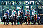 OCT 06: The Field for the Spinster Stakes breaks out of the gate at Keeneland Racecourse, Kentucky on October 06, 2019.  Evers/Eclipse Sportswire/CSM