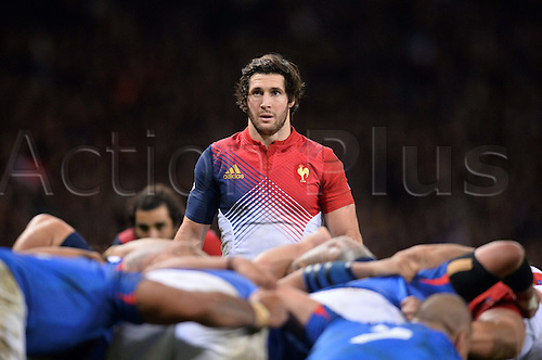 12.11.2016. Stadium Toulouse, Toulouse, France. Autumn International rugby match, France versus Samoa.  Maxime Machenaud (fra) about to put into the scrum