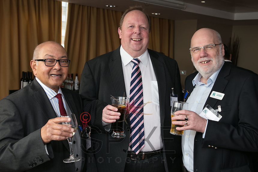 From left are Bill Sen of BDS, John Hall of Frank Exchange and Steve Potts of Andante