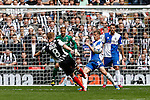 Craig Disley of Grimsby Town shoots during the 2015 Vanarama Conference Promotion Final match between Grimsby Town and Bristol Rovers at Wembley Stadium, London<br /> Picture by David Horn/eXtreme aperture photography +44 7545 970036<br /> 17/05/2015