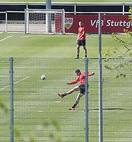 21st April 2020; Stuttgart, Germany  VfB Stuttgart Training:  Mario Gomez. Training during the covid-19 pandemic