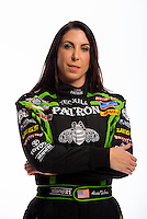 Jan 16, 2013; Palm Beach Gardens, FL, USA; NHRA funny car driver Alexis DeJoria poses for a portrait. Mandatory Credit: Mark J. Rebilas-