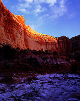 Dry wash and canyon wall Capitol Reef National Park Utah