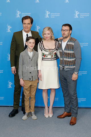 Michael Shannon, Jaeden Lieberher, Kirsten Dunst and Joel Edgerton attending the &quot;Midnight Special&quot; photocall held at Grand Hyatt Hotel during 66th Berlinale International Film Festival, Berlin, Germany, 12.02.2016. <br /> Photo by Christopher Tamcke/insight media /MediaPunch ***FOR USA ONLY***