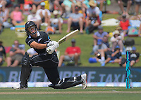 NZ's Ross Taylor bats during the One Day International cricket match between NZ Black Caps and Sri Lanka at Mount Maunganui, New Zealand on Saturday, 5 January 2019. Photo: Dave Lintott / lintottphoto.co.nz