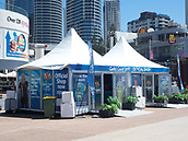 16th March 2018, Surfers Paradise, Gold Coast, Queensland, Australia;  Surfers Paradise prepare for the Commonwealth Games 2018;  The games official shop on the Surfers Paradise boardwalk