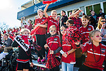 KANSAS CITY, MO - DECEMBER 02: Young fans for the The University of Central Missouri cheer on the Jennies during the Division II Women's Soccer Championship held at the Swope Soccer Village on December 2, 2017 in Kansas City, Missouri. (Photo by Doug Stroud/NCAA Photos/NCAA Photos via Getty Images)