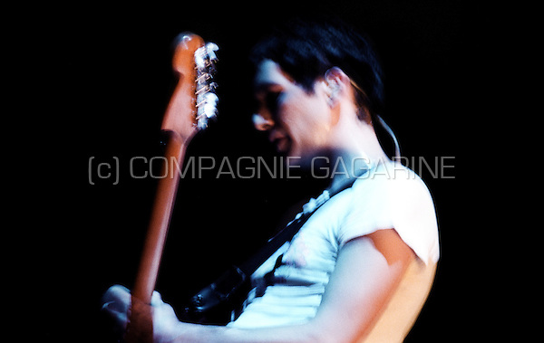 Concert of the Britpop group Placebo in the Zenith arena, Lille, during the Sleeping with Ghosts tour (France, 16/10/2003)