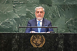 DSG meeting<br /> <br /> AM Plenary General DebateHis<br /> <br /> <br /> His Excellency Abdullah Abdullah, Chief Executive, Islamic Republic of Afghanistan