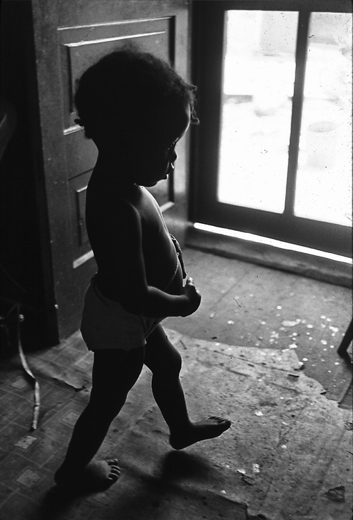 Baby in doorway of home on Clayton Alley, Montgomery, Ala. Taken for a Photo essay in The Southern Courier Newspaper. Copyright Jim Peppler/1967.  This and over 10,000 other images are part of the Jim Peppler Collection at The Alabama Department of Archives and History:  http://digital.archives.alabama.gov/cdm4/peppler.php