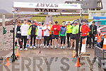 On your marks - Competitors line up for the start of the Waterville Duathlon in aid of Waterville RC on Sunday.