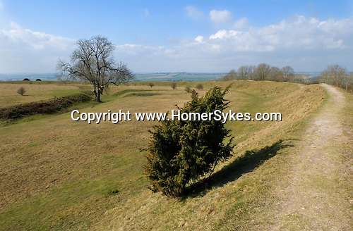 Figsbury Ring, Firsdown, Wiltshire UK. An Iron Age Hill Fort or a Neolithic Henge monument.