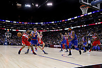 17th January 2019, The O2 Arena, London, England; NBA London Game, Washington Wizards versus New York Knicks; Bradley Beal of the Washington Wizards is guarded by Mario Hezonja of the New York Knicks