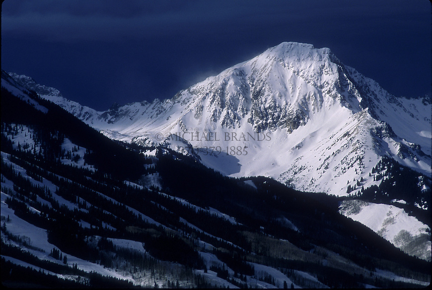 Mt. Daly looms over Snowmass ski area. Snowmass, Colorado. © Michael Brands