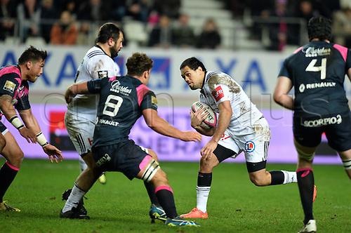 19.02.2016. Paris, France. Top 14 rugby union. Stade Francais versus Brive.  Amanaki Mafi (bri)