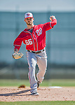 25 February 2016: Washington Nationals pitcher Nick Lee throws during the first full squad Spring Training workout at Space Coast Stadium in Viera, Florida. Mandatory Credit: Ed Wolfstein Photo *** RAW (NEF) Image File Available ***