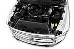 Car stock 2015 Ram 2500 Laramie 4 Door Van engine high angle detail view