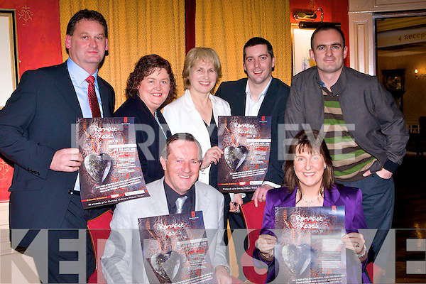 LAUNCHING:Announceing details for the forth coming Chernobyl Childrens Project Valentine Gala Ball, which will be held in the Meadowlands Hotel, on Monday night in the Meadowlands Hotel, Tralee. Front George and Mary Sugrue (Chernobyl Childrens Project Tralee). Back Ivan Blennerhassett, Margaret Brick, Peigi? O mahony, Brian Hurley and Francis Fitzgibbon (Radio kerry).........