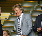 Singer and Celtic fan Rod Stewart takes his seat during the Champions League Group C match at the Celtic Park Stadium, Glasgow. Picture date: September 28th, 2016. Pic Simon Bellis/Sportimage