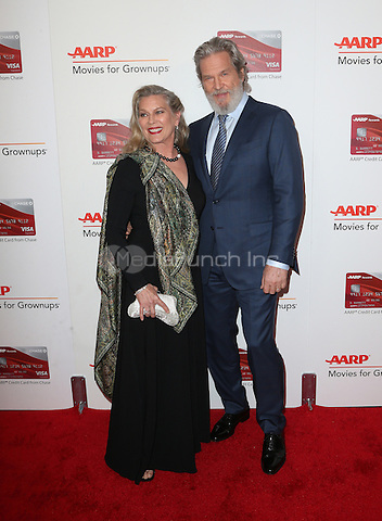 Beverly Hills, CA - FEBRUARY 06: Susan Geston, Jeff Bridges, At 16th Annual AARP The Magazine's Movies For Grownups Awards, At The Beverly Wilshire Four Seasons Hotel In California on February 06, 2017. Credit: Faye Sadou/MediaPunch