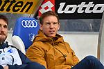 10.03.2019, Prezero-Arena, Sinsheim, GER, 1 FBL, TSG 1899 Hoffenheim vs 1. FC Nuernberg, <br /> <br /> DFL REGULATIONS PROHIBIT ANY USE OF PHOTOGRAPHS AS IMAGE SEQUENCES AND/OR QUASI-VIDEO.<br /> <br /> im Bild: Julian Nagelsmann (Trainer TSG Hoffenheim)<br /> <br /> Foto &copy; nordphoto / Fabisch