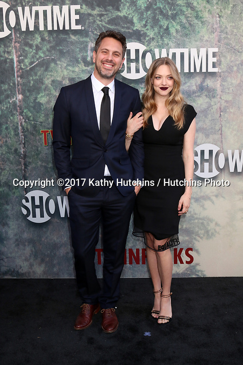 "LOS ANGELES - MAY 19:  Thomas Sadoski, Amanda Seyfried at the ""Twin Peaks"" Premiere Screening at The Theater at Ace Hotel on May 19, 2017 in Los Angeles, CA"