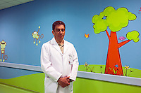 Lapino, Russia, 29/03/2013..Russia's newest billionaire Dr Mark Kurtser in the children's department at his new hospital in the town of Lapino in Moscow Region..