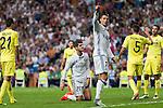 Real Madrid's Alvaro Morata and Cristiano Ronaldo during the match of La Liga between Real Madrid  and Villarreal Club de Futbol at Santiago Bernabeu Estadium in Madrid. September 21, 2016. (ALTERPHOTOS/Rodrigo Jimenez)