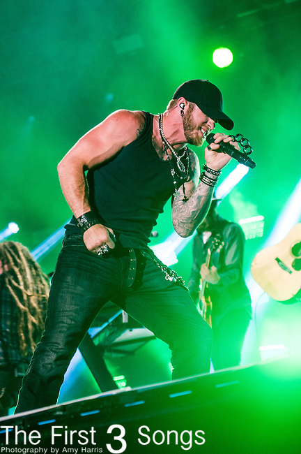Brantley Gilbert performs at LP Field during Day One of the 2014 CMA Music Festival in Nashville, Tennessee.