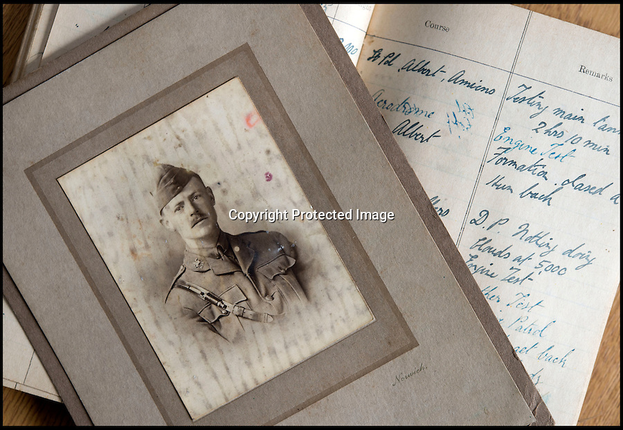 BNPS.co.uk (01202 558833)<br /> Pic: C&T/BNPS<br /> <br /> The forgotten story of the 'first' great escape has re-emerged almost 100 years later after a PoW's treasure trove of belongings was uncovered.<br />  <br /> Lieutenant Thomas Frank Burrill was a detainee at Holzminden prisoner of war camp, located in northern Germany, on the night of July 23 1918 when a mass bid for freedom was made less than four months before the end of World War I. <br /> <br /> Ultimately the tunnel troops had spent nine months digging using just pieces of cutlery collapsed when only 29 of the PoWs had managed to crawl free, with 19 later captured and 10 making it to the safety of neutral Holland before being welcomed back to Britain as heroes. <br /> <br /> The story has come to light again as never-seen-before items owned by Lt Burrill, a fighter pilot shot down from his Airco DH.4 in April 1918, are set to be auctioned on Wednesday.
